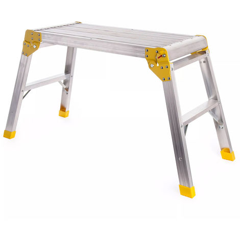 Excel Aluminium Hop up Step Ladder Odd Job Folding Stool Platform Work Bench 700MM