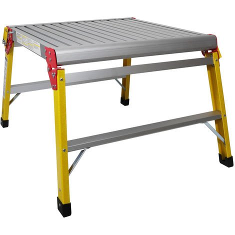 Excel Fibreglass Work Bench Platform Heavy Duty Folding Hop Up 600mm x 600mm