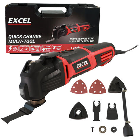 Excel Heavy Duty Oscillating Multi-Tool with Quick Release Blade 330W/230V:240V