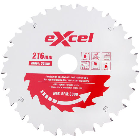 Excel Mitre Saw Blade Pro Series 216MM 24 Tooth