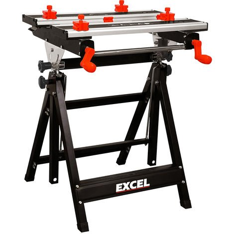Excel Portable Workbench & Vise 2ft Foldable Heavy Duty with Stand