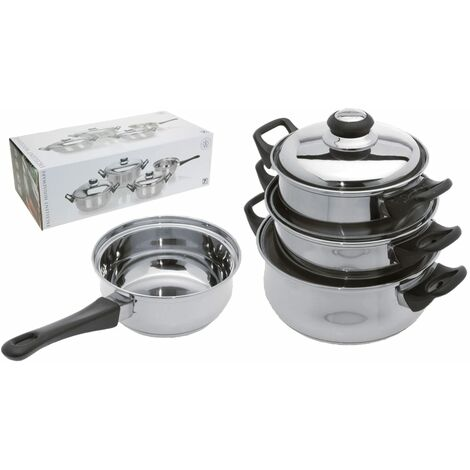 Excellent Houseware 7 Piece Casserole Set Stainless Steel 3 mm