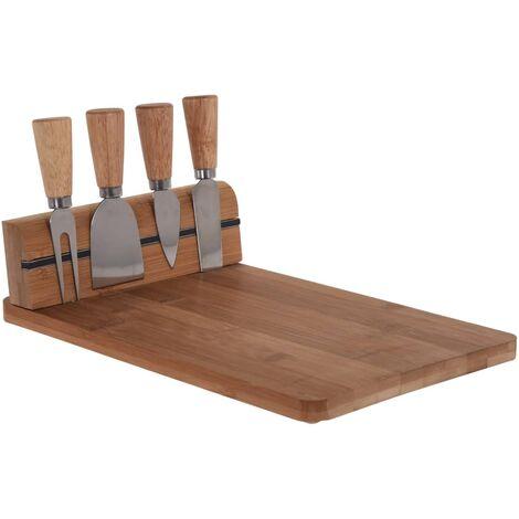 Excellent Houseware Support de couteau à fromage et planche en bambou