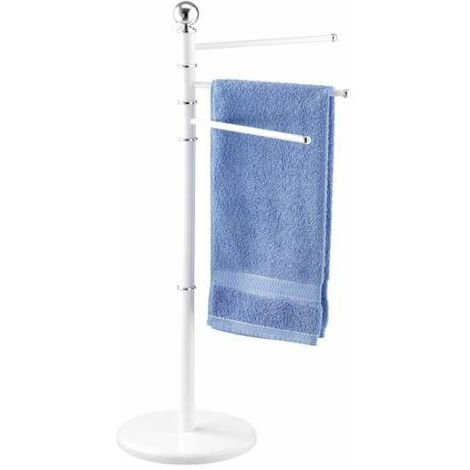 Exclusive towel stand Chrome-White WENKO