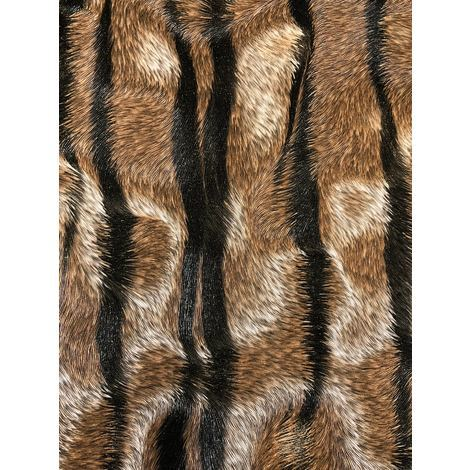Exclusive wallpaper wall Profhome 822601 vinyl wallpaper embossed with tiger stripes shiny brown cream black 5.33 m2 (57 ft2)