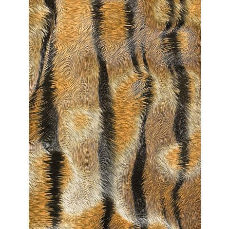 Exclusive wallpaper wall Profhome 822605 vinyl wallpaper embossed with tiger stripes shiny brown beige black 5.33 m2 (57 ft2)