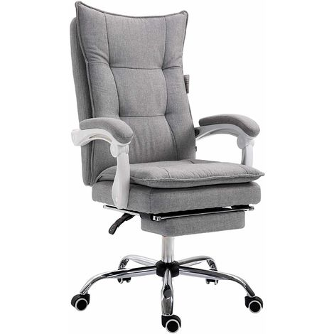 Executive Double Layer Padding Recline Desk Chair Office Chair with Footrest