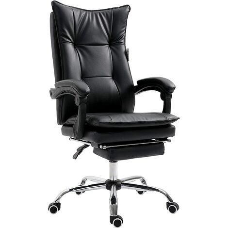 premium selection 9555f a6c45 Executive Double Layer Padding Recline Desk Chair Office Chair with Footrest