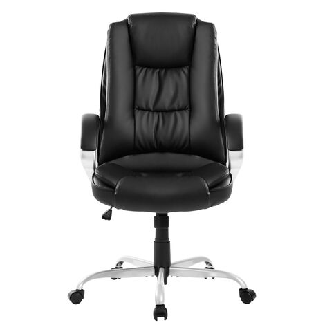 Executive Office Chair Large Computer Home Luxury Leather Swivel Adjustable High Back