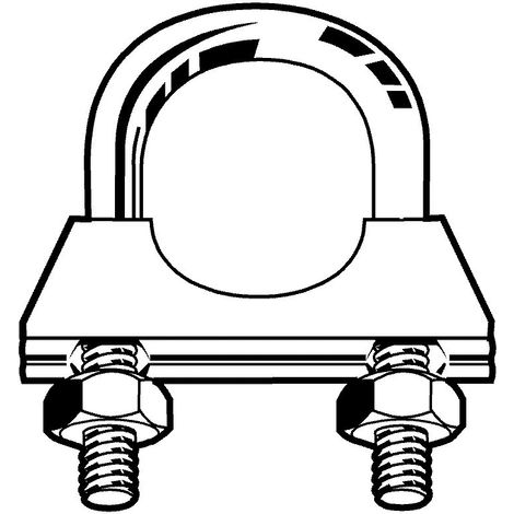 Exhaust pipe clamp universal Steel Zinc plated