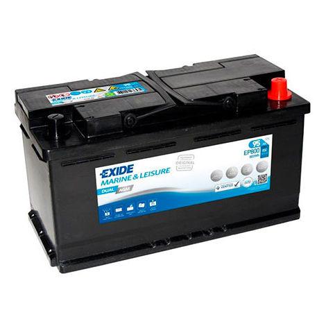 Exide - Batería para barco EXIDE Dual AGM EP800 (800Wh) 12V 95Ah Auto