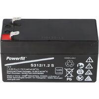 Exide Powerfit S312/1,2S PB Bleiakku 12 Volt, 1200mAh mit Faston 4,8 mm Kontakt