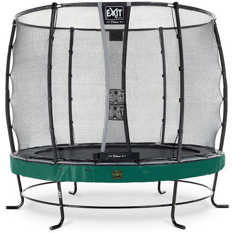 EXIT Elegant Premium Trampolin ø253cm mit Deluxe Sicherheitsnetz - grün