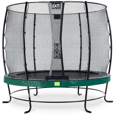 EXIT Elegant Trampolin ø253cm mit Economy Sicherheitsnetz - grün