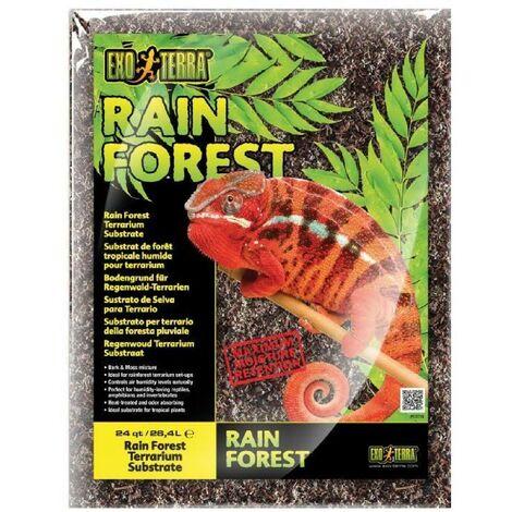 Exo Terra - Substrat de Forêt Tropicale Rain Forest pour Terrarium - 8,8L
