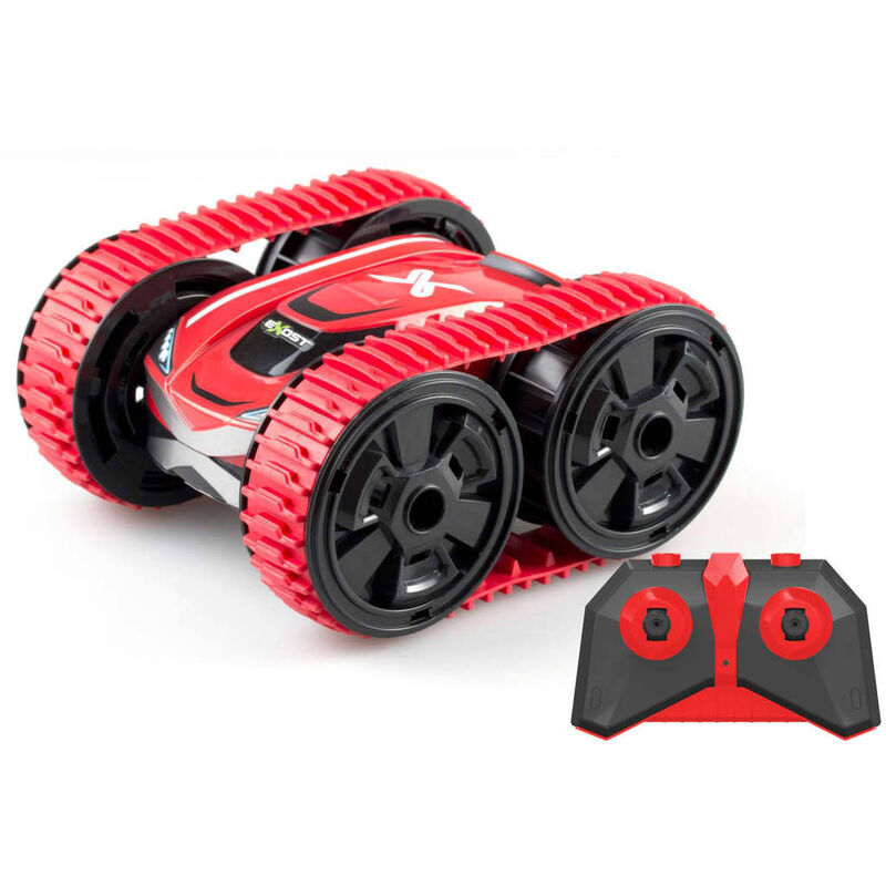 Image of RC Stunt Tank Car - Red - Exost