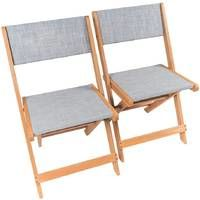 Exotic wooden Folding chairs Seoul - Maple - Grey - 2 sets
