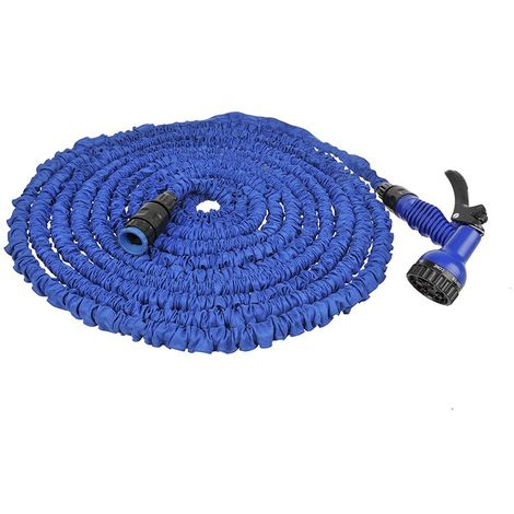 Expandable water hose 15M with 7 function spray gun