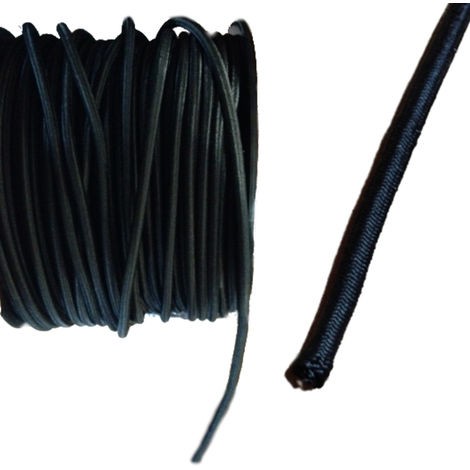Expanderseil 10 mm schwarz PP Ummantelung