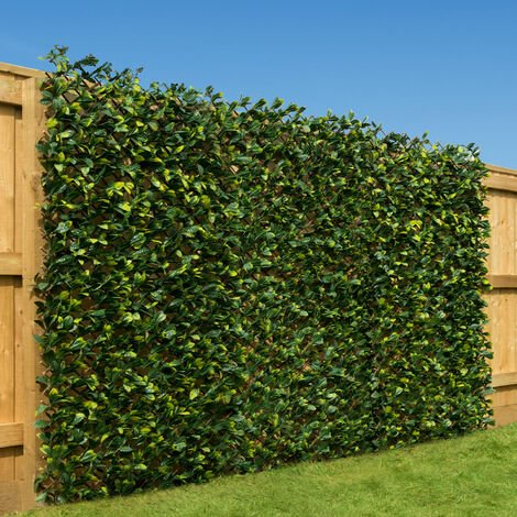 Expanding Artificial Hedge With Two Tone Leaves (1m x 2m)