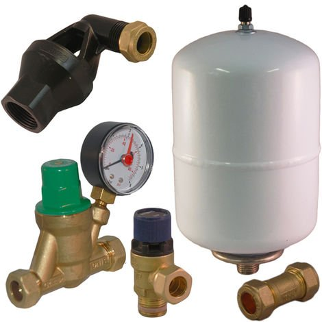 Expansion Vessel, Pressure Reducing, Relief Valve Kit A B C D