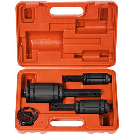 Expansor de tubos de escape ø 30 - 83 mm - expandidor de tubos con maletín, kit de herramientas para expandir tubos de escape, set de herramientas expansoras para taller - rojo