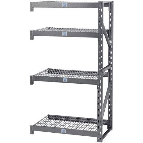 Expert Heavy Duty Steel 4 Shelving Extension Unit - 1040 x 610 x 1830mm