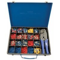 Expert Ratchet Crimping Tool and Terminal Kit (56383)