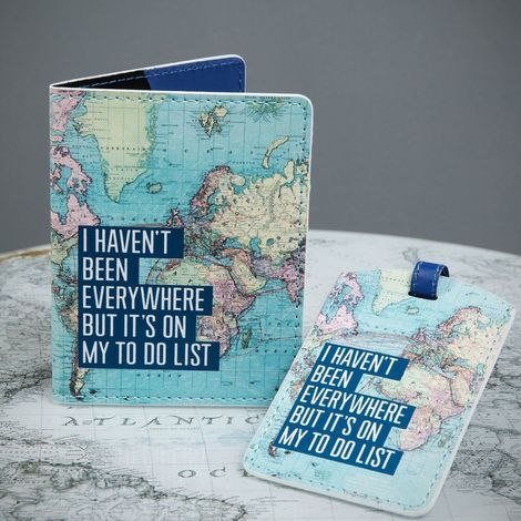 Explore Passport Cover & Luggage Tag - I Haven't Been...
