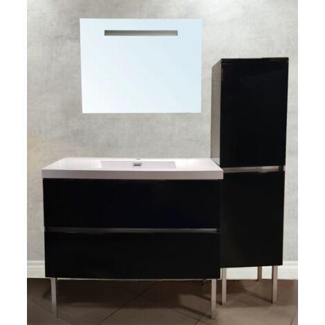 EXPO : Ensemble meuble, miroir, lavabo 100cm, livraison gratuite