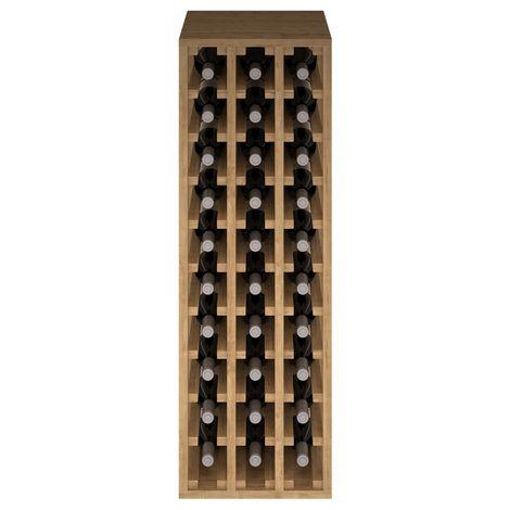 Expovinalia EX2033 botellero pino 30 botellas, serie godello, roble claro
