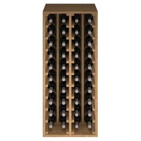 Expovinalia EX2034 botellero pino 40 botellas, serie godello, color roble claro