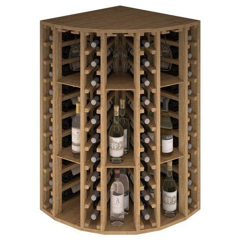 Expovinalia EX2035 botellero pino 40 botellas, serie godello, color roble claro