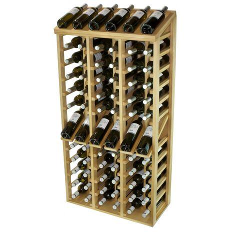 Expovinalia EX2068 botellero pino 72 botellas, serie godello, color roble claro