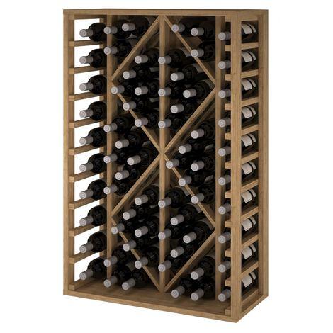 Expovinalia EX2530 botellero pino 68 botellas, serie godello, color roble claro