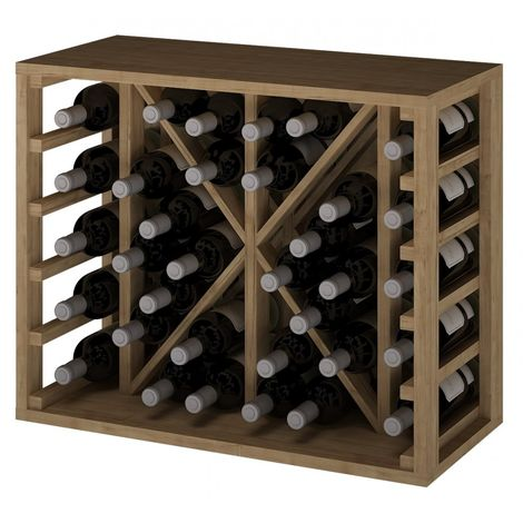 Expovinalia EX2531 botellero pino 34 botellas, serie godello, color roble claro