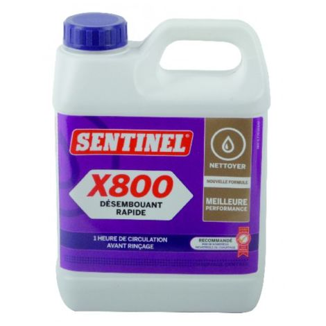 Express Sludge remover X800 - Can of 1 kg - SENTINEL : X800