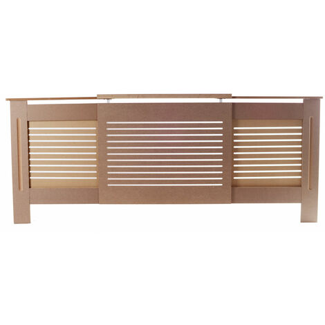 Exquisite E1 MDF Board Home Adjustable Radiator Cover Wood Color