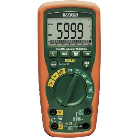 Extech EX520 Hand-Multimeter digital Wasserdicht (IP67) CAT III 1000 V, CAT IV 600V Anzeige (Counts) Q55591