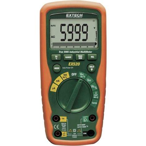 Extech EX520 Hand-Multimeter digital Wasserdicht (IP67) CAT III 1000 V, CAT IV 600V Anzeige (Counts) Q55591