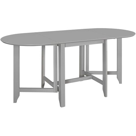 Extendable Dining Table Grey (75-180)x75x74 cm MDF