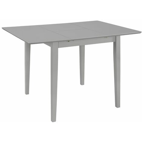 Extendable Dining Table Grey (80-120)x80x74 cm MDF
