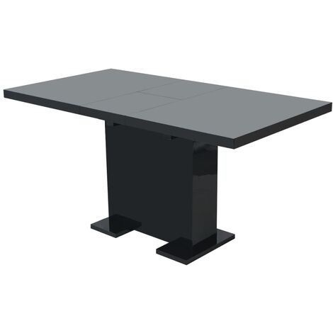 Extendable Dining Table High Gloss Black