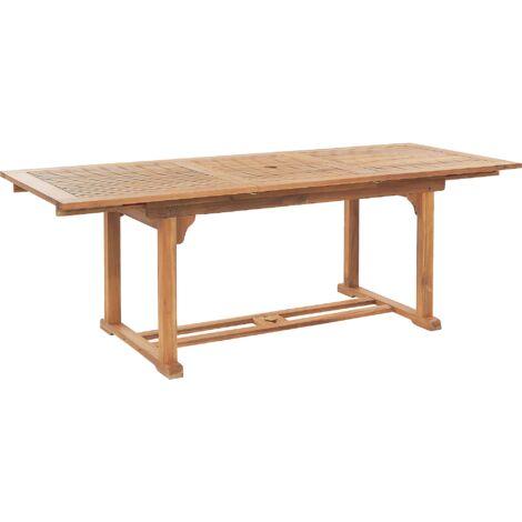 Extending Acacia Wood Garden Dining Table 160/220 x 90 cm JAVA