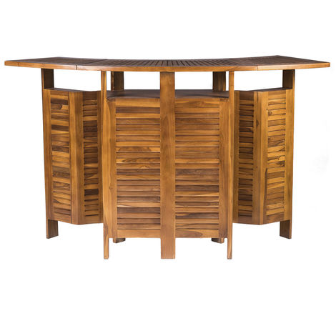 Extending and Folding Outdoor Garden Furniture - Solid Hardwood Luxury Bar Table