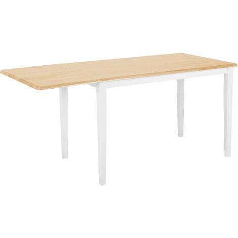 Extending Dining Table 120 x 75 cm White LOUISIANA