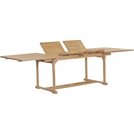 Extending Dining Table (150-200)x100x75 cm Solid Teak