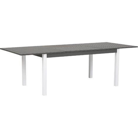 Extending Garden Table 168/248 x 100 cm Grey PANCOLE