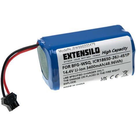 EXTENSILO Batería recargable reemplaza Cecotec CONG1002 para aspiradora, robot limpieza (3.400 mAh, 14,4 V, Li-Ion)