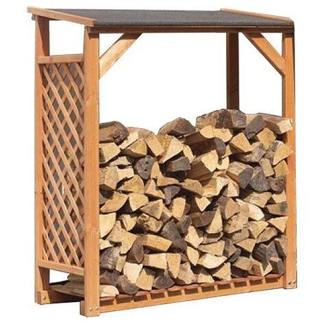 Extension abri bûches en bois coloris miel - Miel